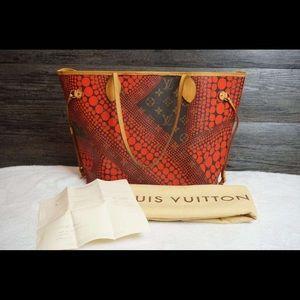 Authentic Louis Vuitton Kusama Waves Neverfull MM